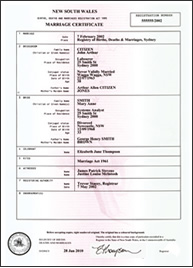 Standard Marriage certificate (A4 size)