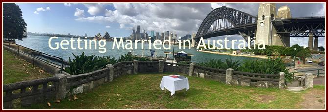 NSW Celebrant Overseas Couples