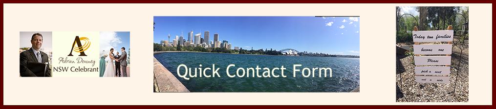 NSW Celebrant Quick Contact