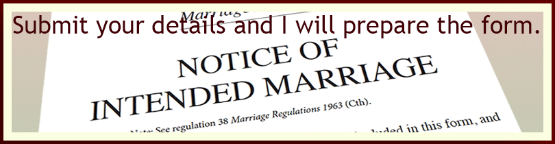 Notice of Intended Marriage Form
